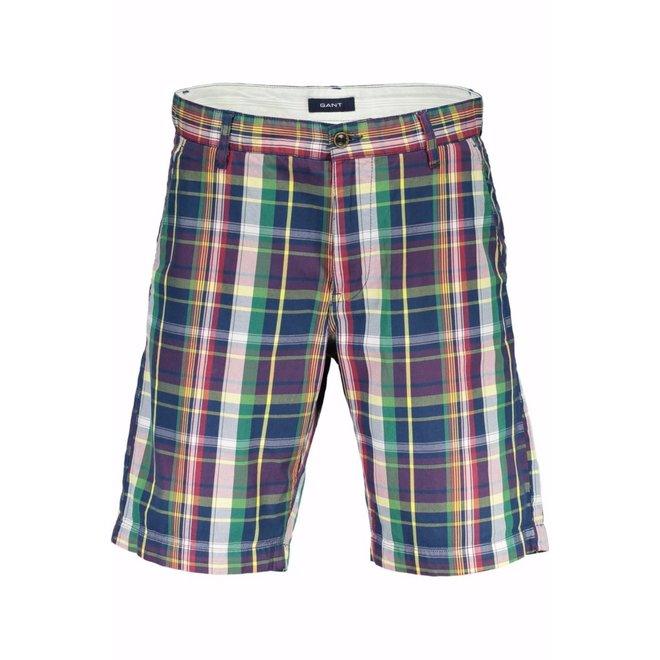 Checked Shorts Men - Multicolor
