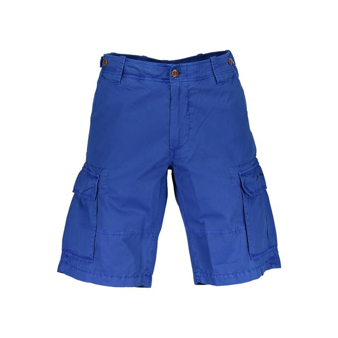 Relaxed Fit Twill Utility Shorts - Blue