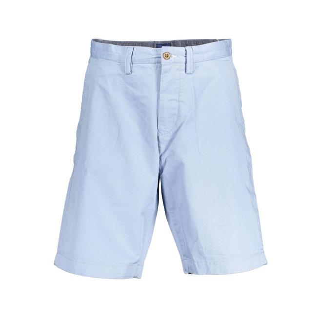 Relaxed Twill Shorts Men - Light Blue