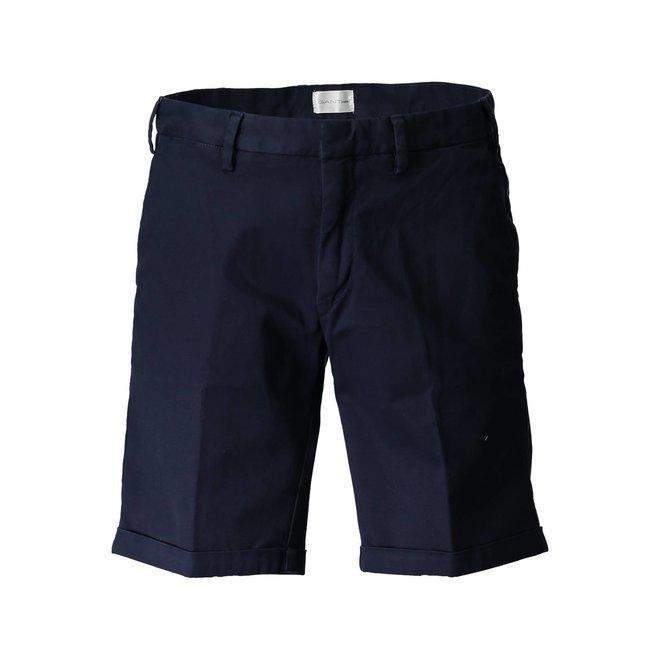 Navy  Relaxed Twill Shorts Men