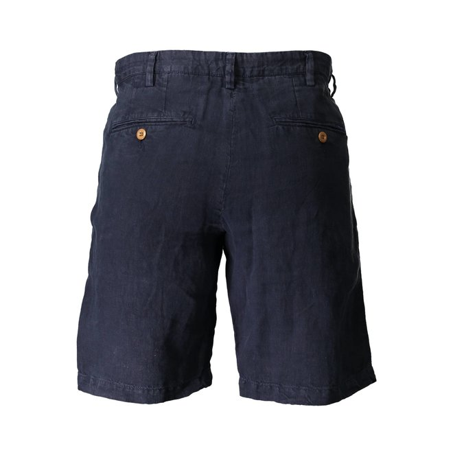 Relaxed Fit Linen Drawstring Shorts - Navy