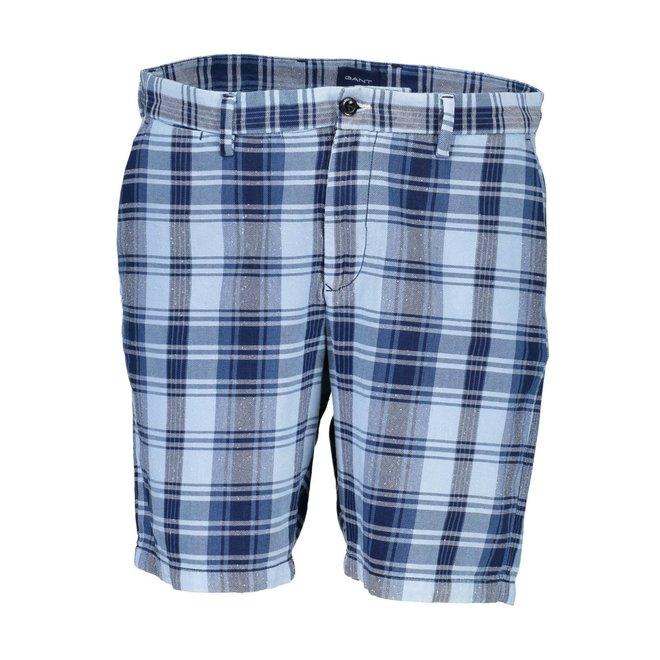 Checked Shorts Men - Blue
