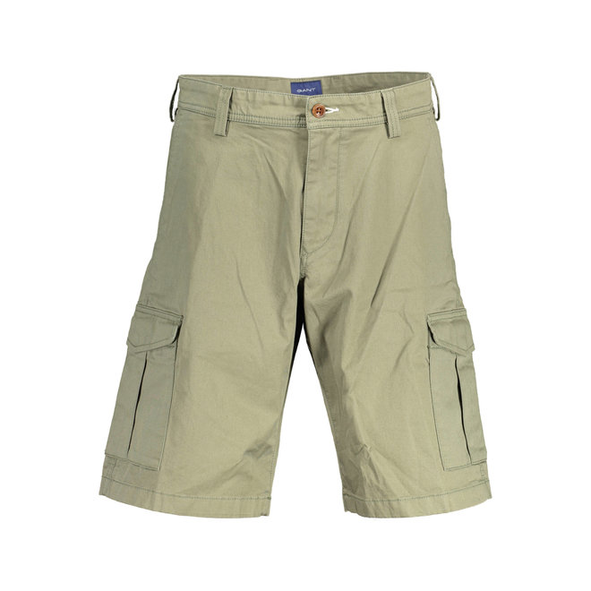 Relaxed Fit Twill Utility Shorts - Khaki Green