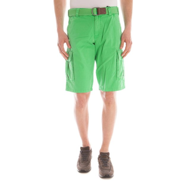 Relaxed Fit Twill Utility Shorts - Green