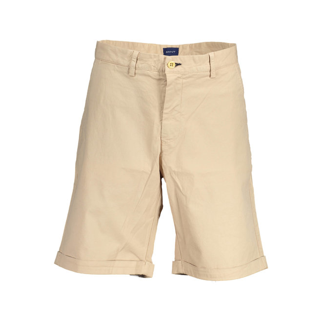 Relaxed Fit Twill Shorts - Beige