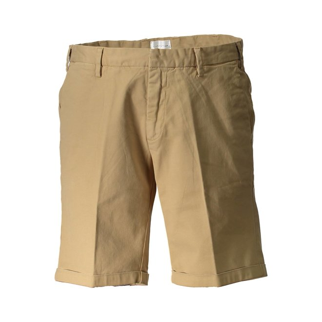 Beige Relaxed Twill Shorts Men