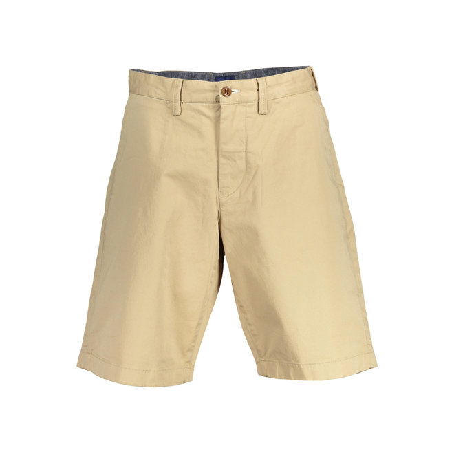 Relaxed Twill Shorts Men - Beige