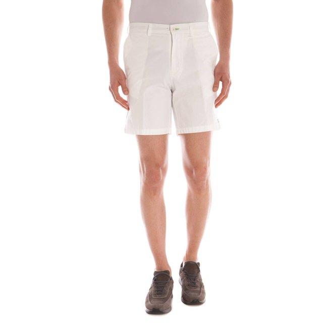 Cotton Bermuda Shorts Men - White