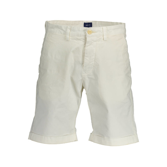 Relaxed Fit Twill Shorts - White