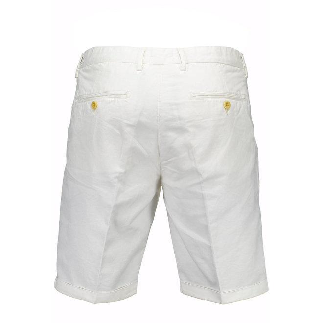 Relaxed Fit Linen Shorts - White