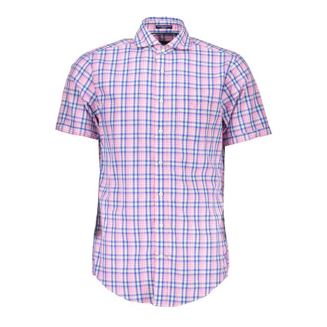 Pink  Albatross Linen Blend Short Sleeve Shirt