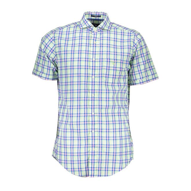 Blue Albatross Linen Blend Short Sleeve Shirt