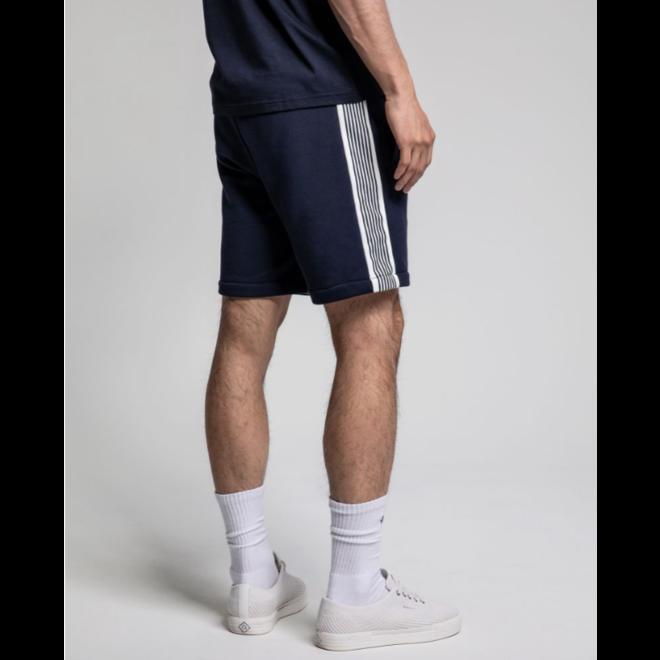 Stripe Sweat Shorts - Evening blue