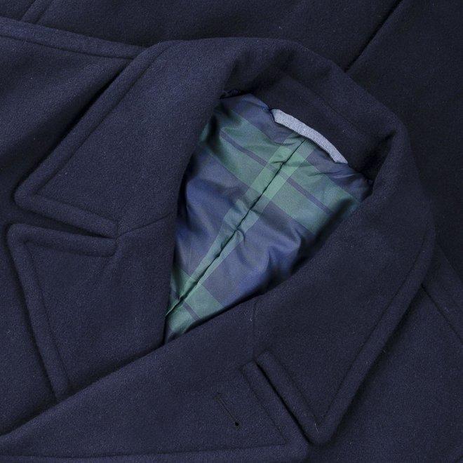 The Peacoat Diamond Gant Coat Navy