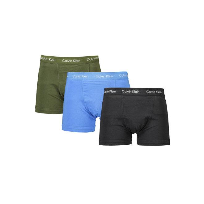 3-pack boxers - cotton stretch- dusk green/ copenhagen blue/ black