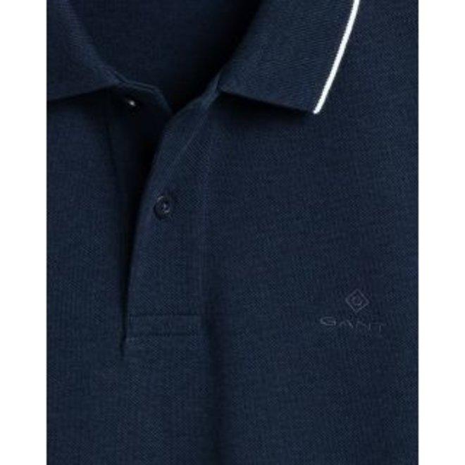 Blue Tech Prep™ Long Sleeve Piqué Rugger