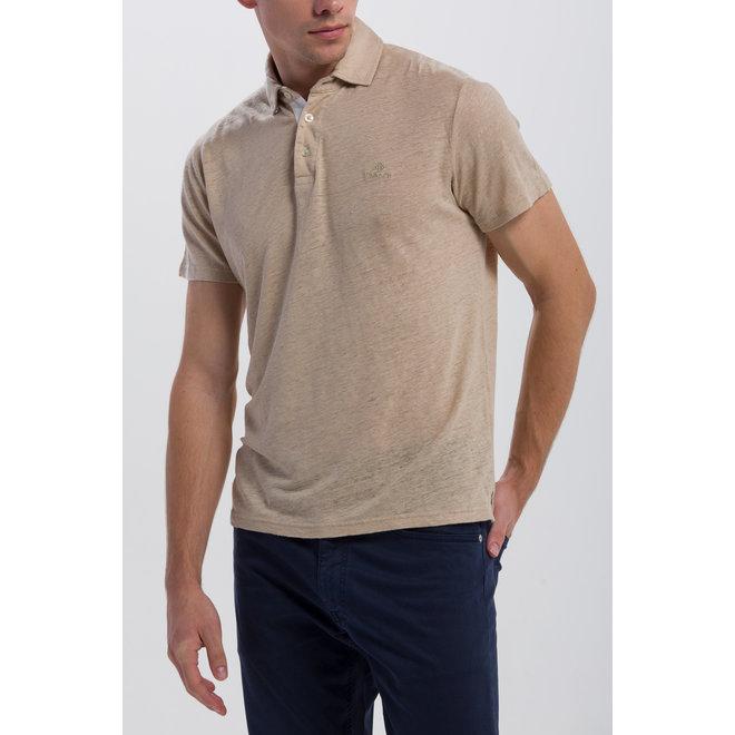 Linen Rugger Polo Men - Dry Sand