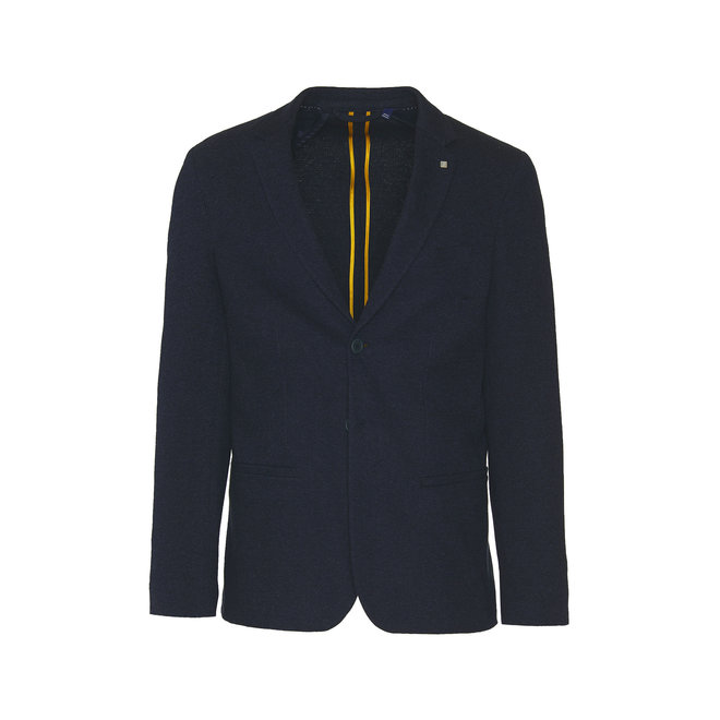 Pattern Jersey Suit Jacket - Blue