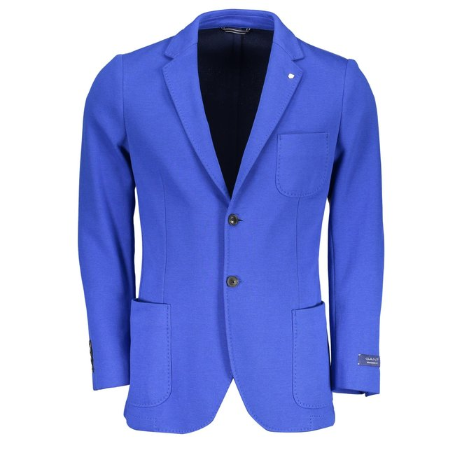 Classic Cotton Blazer -  Blue