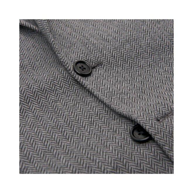 Men's Herringbone Jersey Blazer - Grey