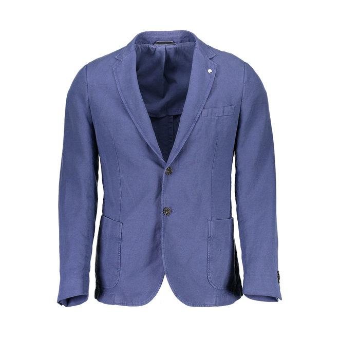 Linen Cotton mix Blazer - Blue