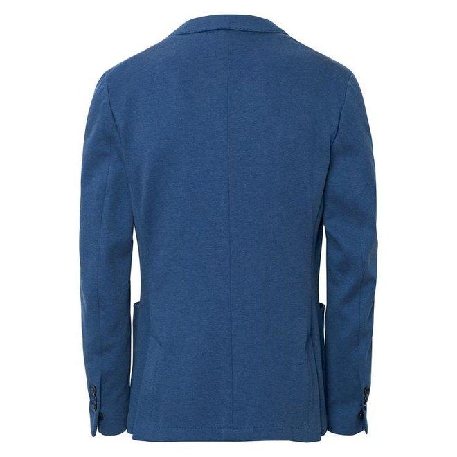 Cotton Pique Blazer  - Light blue