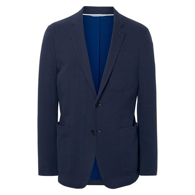 Cotton Pique Blazer  - Blue