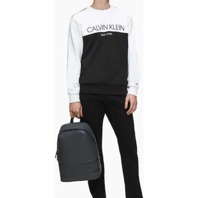 Striped Round Backpack - Black