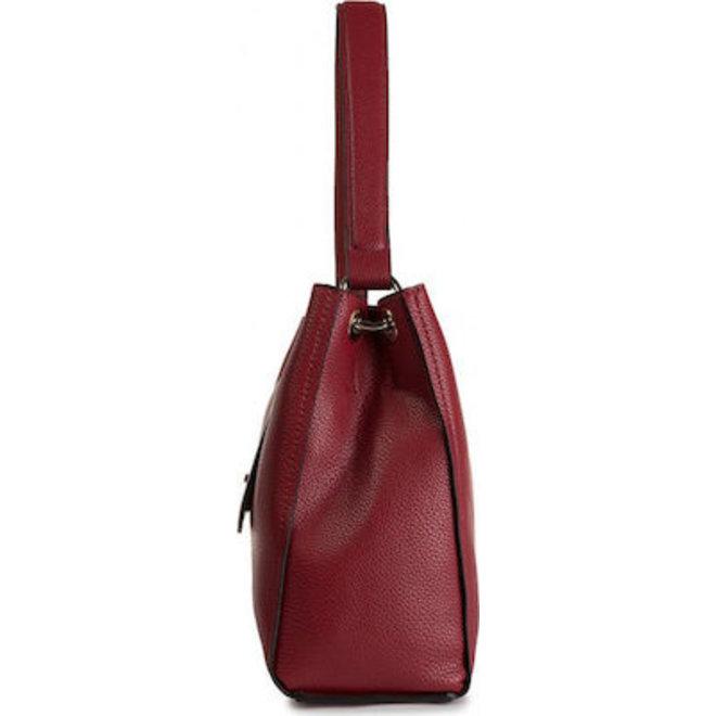 Single Strap Twisted Lock Tote Bag