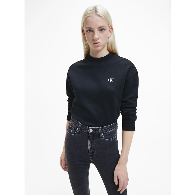 Geborduurd Sweatshirt met logo - Zwart