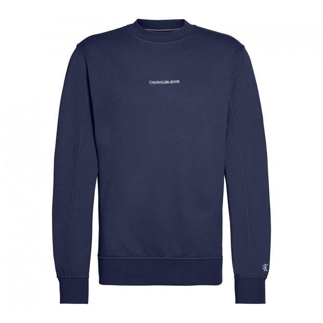 Cotton Terry Sweatshirt - Blue