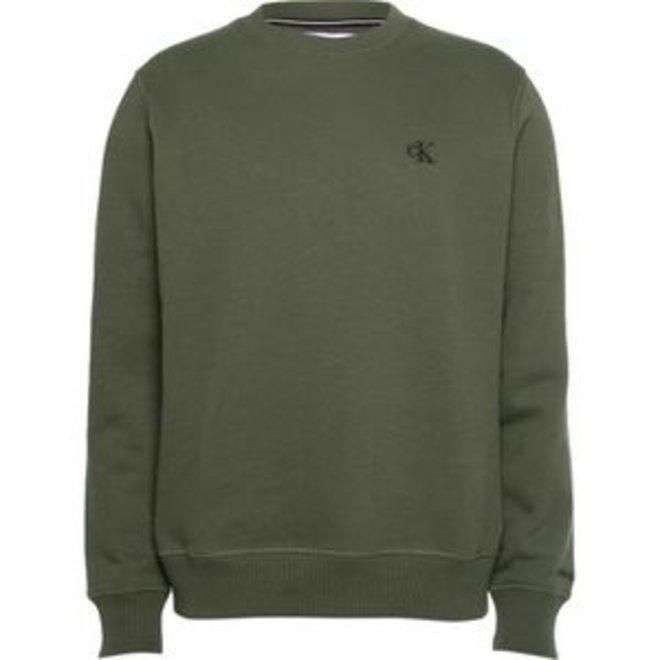 Cotton Blend Fleece Sweatshirt -Green