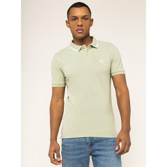 Slim Stretch Piqué Polo Shirt - Lichen green