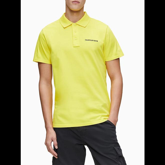 Embroidered Logo Polo Shirt -Yellow