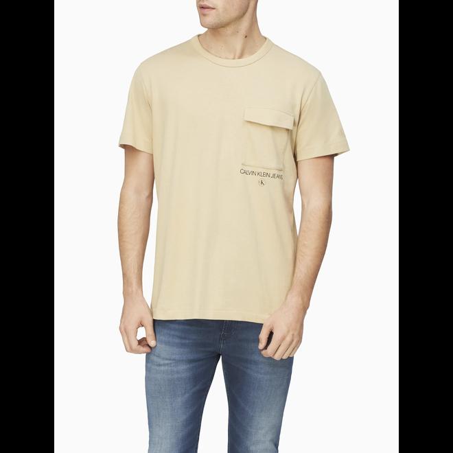 Utility Pocket Institutional Logo T-Shirt - Irish Cream