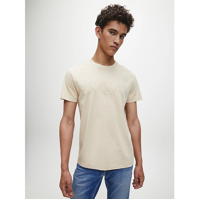 Recycled Cotton T-Shirt - Beige