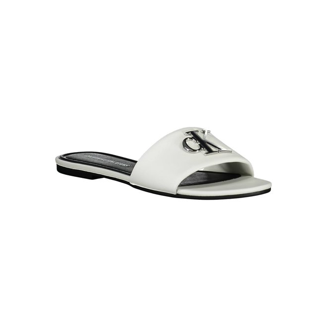 Slide Flat Slippers Sandal - White