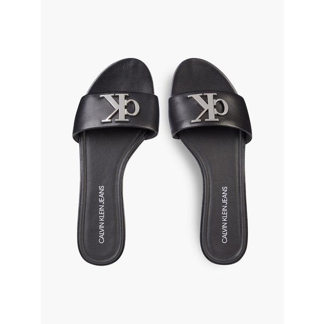 Slide Flat Slippers Sandal - Black