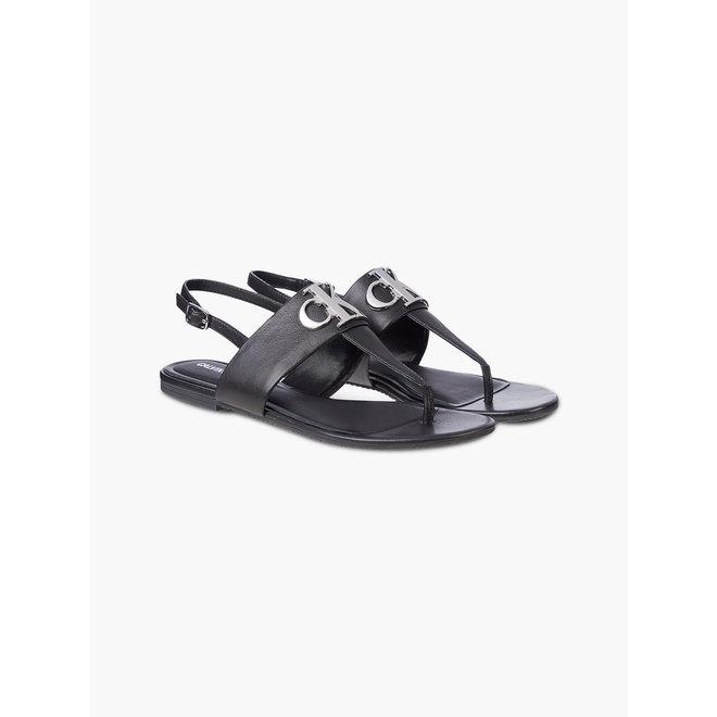 Leather Sandals - Black