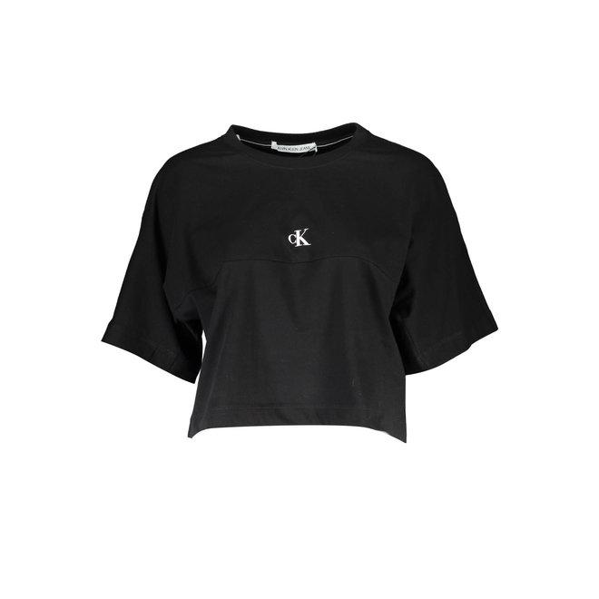 Black Organic Cotton Back Logo T-shirt Women