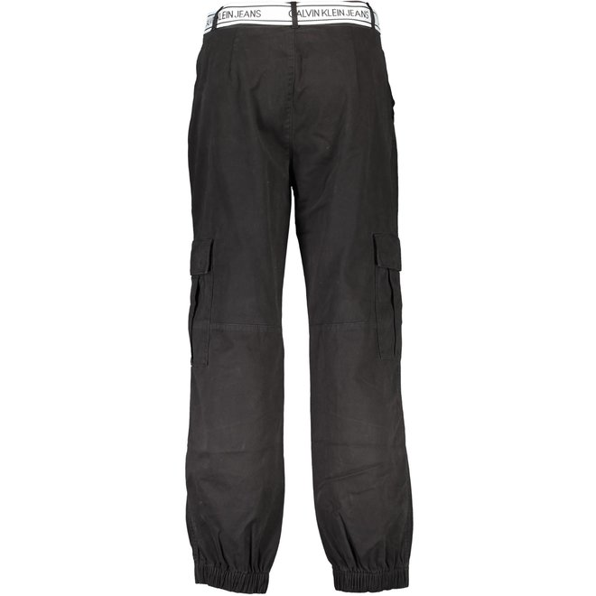 Black  Belted Cargo Pants Women