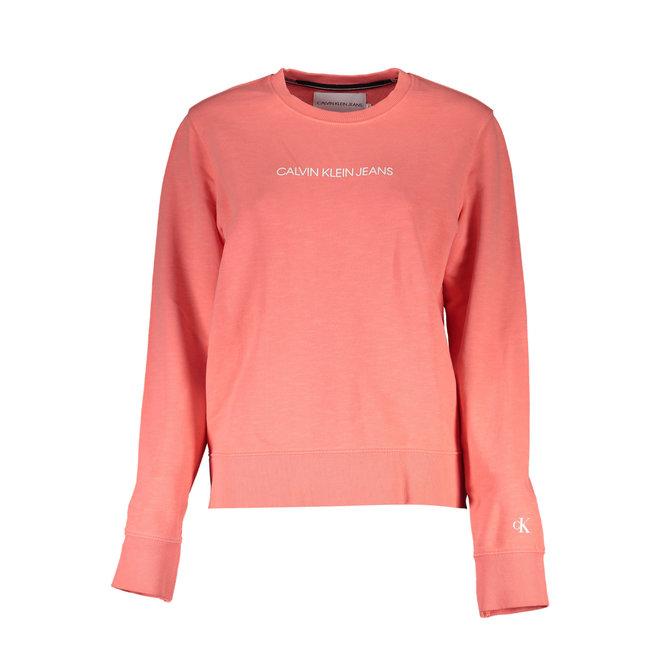 Coral Organic Cotton Logo Sweatshirt Women