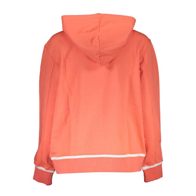 Organic Cotton Logo Hoodie - Coral
