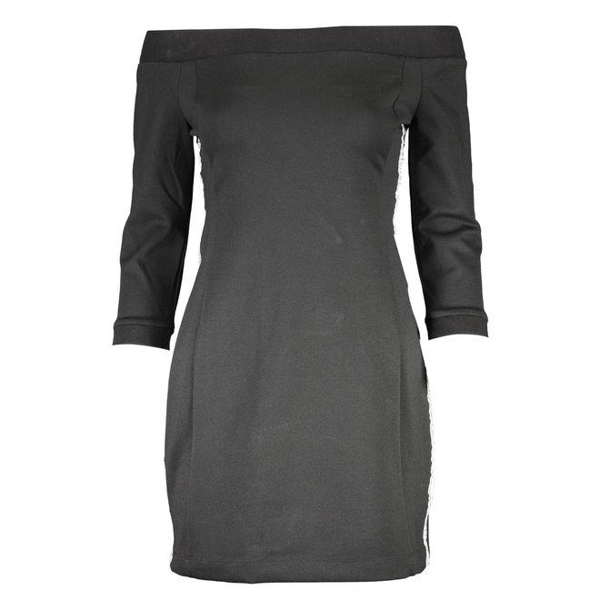 Black Off shoulder dress made of Milano jersey