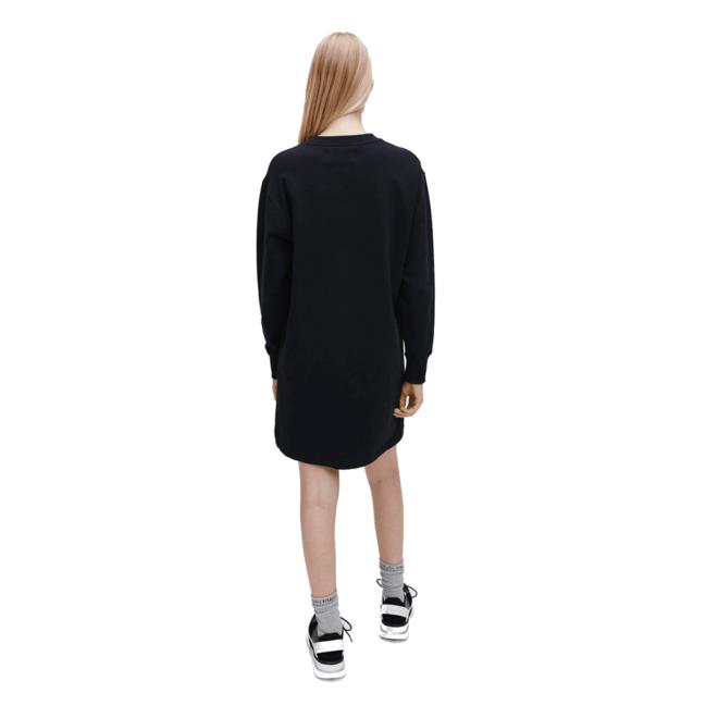 Metallic logo sweatshirt dress - Black