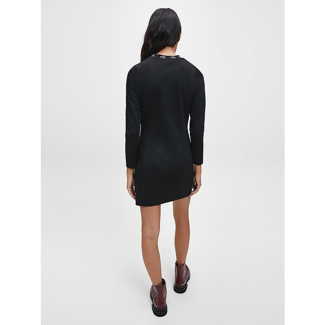 Milano Jersey Logo Collar Dress