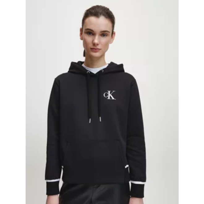 Organic Cotton Logo Hoodie - Black