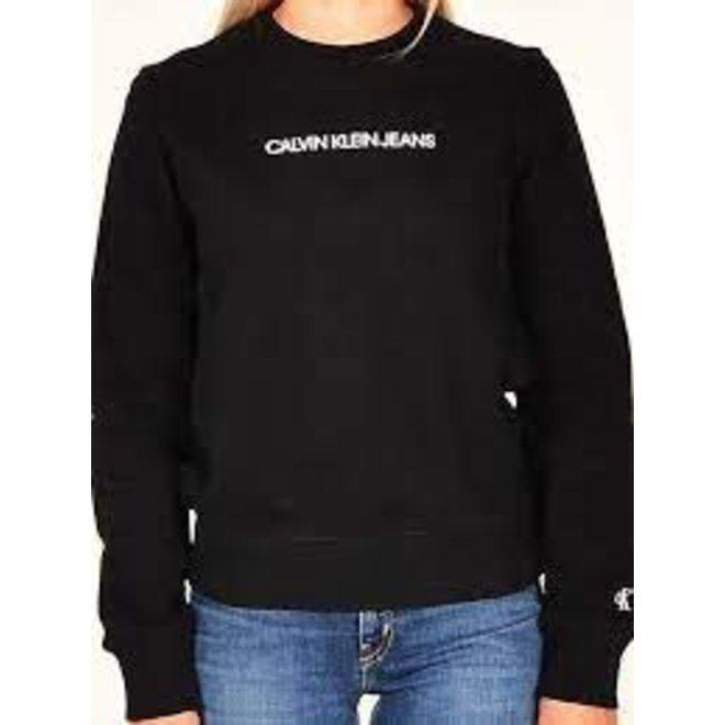 Black Organic Cotton Logo Sweatshirt Women
