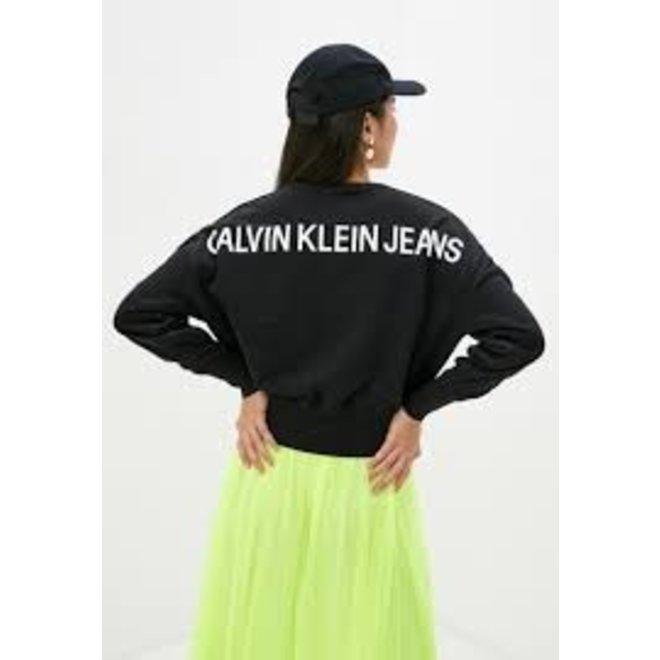 Back Logo Sweatshirt Women - Black