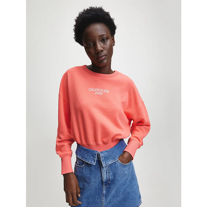 Back Logo Sweatshirt Women - Coral